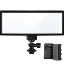 Viltrox L132T lcd двухцветный Регулируемый тонкий портативный ручной DSLR видео светодиодный светильник+ батарея+ зарядное устройство для телефона youtube show Live