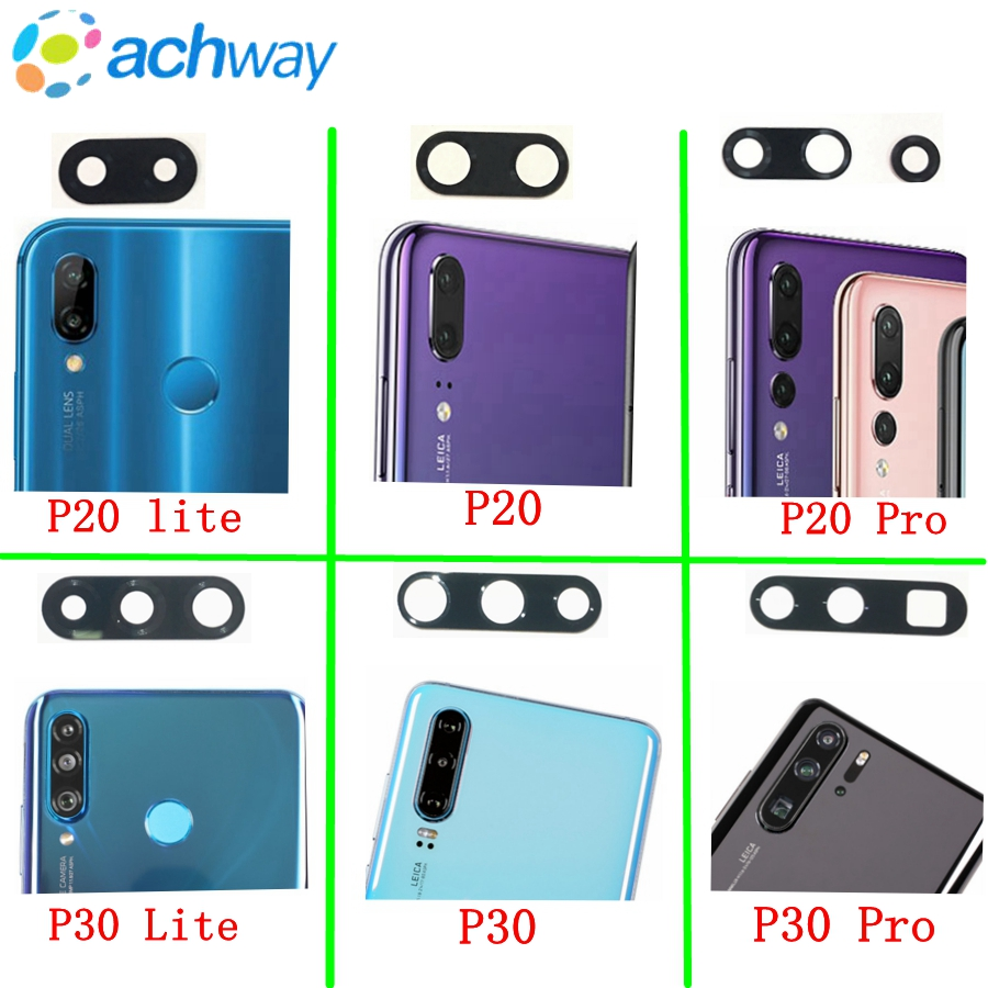 Original Rear Back Camera Lens Glass Replacement For Huawei P30 P30 Pro P30 Lite P20 Pro P20 Lite With Sticker