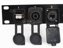 High quality D type dust cover XLR cannon socket protective folding waterproof HDMI VGA BNC USB RJ45 RJ11 Jack 3.5/6.35 RCA