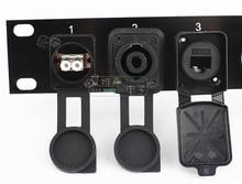 Yüksek kaliteli d tipi tozluk XLR top soket koruyucu katlanır su geçirmez HDMI VGA BNC USB RJ45 RJ11 Jack 3.5/6.35 RCA