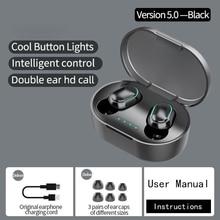 A7S TWS Fingerprint Touch Bluetooth słuchawki Stereo HD słuchawki bezprzewodowe gamingowy zestaw słuchawkowy z redukcją szumów z mikrofonem