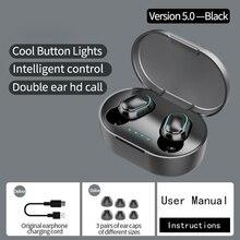 Auriculares TWS A7S, inalámbricos por Bluetooth, auriculares estéreo HD con reconocimiento de huella dactilar y cancelación de ruido para videojuegos