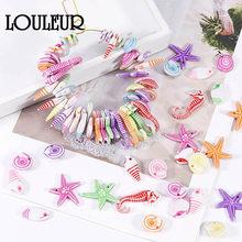 Lot de 100 pendentifs en coquillage de conque, océan, étoile de mer, Bracelet de cheville, collier, accessoires artisanaux faits à la main pour enfants