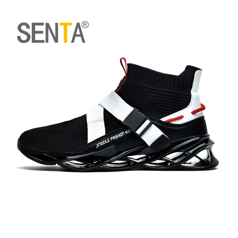 New Blade Series Socks Sports Shoes Cushioning Running Shoes For Men Wearable Sole Professional Athletic Black Jogging Shoes
