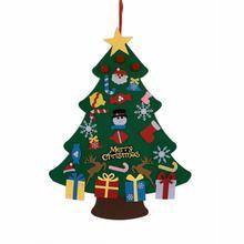 DIY Handcraft Felt Toys Xmas Decor Tree for Home Wall Christmas Decoration Creative Handmade