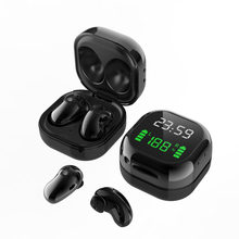 S6 Plus TWS bezprzewodowe słuchawki douszne Bluetooth 5.1 wyświetlacz LED 6D stereofoniczny zestaw słuchawkowy wodoodporne słuchawki sportowe dla Xiaomi Huawei