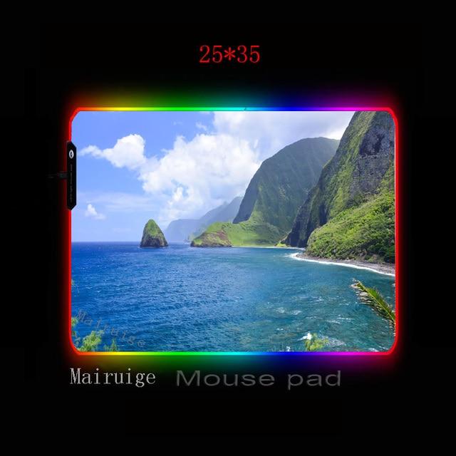 Фото mairuige морской пейзаж мультфильм игровой плеер большой rgb