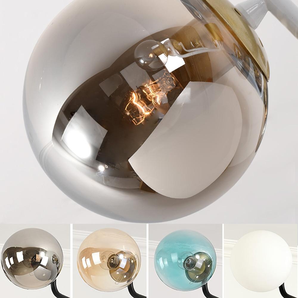 Modern Nordic Chandelier Lighting 4 Color Lights LED Edison 6 Lights Chandeliers Indoor Light Fixtures
