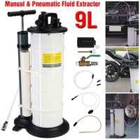 9L Manual/Pneumatic Oil Extractor Pump Petrol Transfer of Engine Diesel Fuel Tank Car Truck Boat Vacuum Pump Fluid Extractor Kit