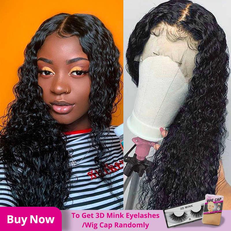 13x4 Brasilianische Haar Tiefe Welle Lace Front Perücken 8-24 Glueless Lockige Spitze Front Menschliches Haar Perücken alimice Remy Perücke Für Schwarze Frauen