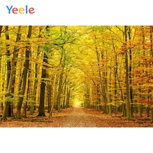 Yeele Autumn Backdrop Forest Yellow Tree Leaves Natural Scenery Newborn Baby Photography  Background Custom For Photo Studio