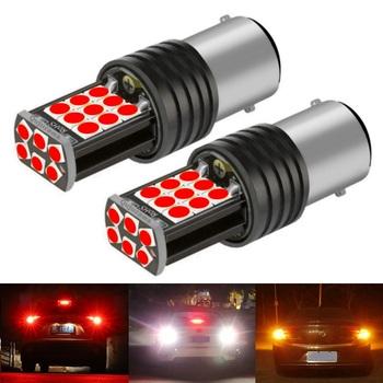 2 sztuk nowy 1157 P21 5W BAY15D Super Bright 3030 LED samochodów tylny hamulec żarówki kierunkowskazy Auto tylne światła przeciwmgielne lampy światła do jazdy dziennej tanie i dobre opinie RAISE STAR CN (pochodzenie) Światła hamowania 1400LM 12 v Black Uniwersalny FESTOON