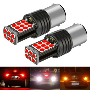 2PCS New 1157 P21/5W BAY15D Super Bright 3030 LED Car Tail Brake Bulbs Turn Signals Auto Rear Fog Lamps Daytime Running Light