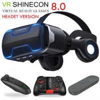 G02ED VR shinecon 8,0 edición estándar y versión de auriculares Realidad virtual 3D VR gafas cascos control opcional