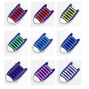 Shoelaces Kids Sneakers Elastic-Shoe Rubber Special No 12pcs/Lot Lacing No-Tie Zapatillas