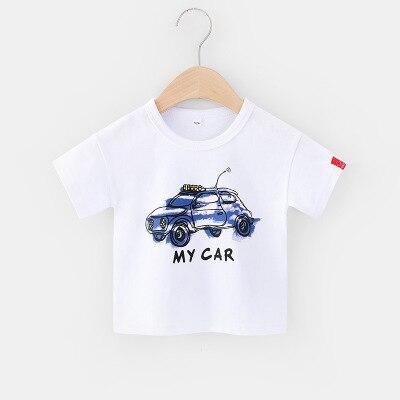 VIDMID 2-6Y boys Clothing Summer Children Infant Kid Boys shirts basic Cartoon Dinosaur Letter T-shirt Tops Shirts Tees 4018 31 2