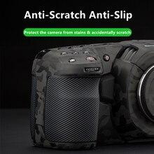 BMPCC 4K / 6K غلاف مضاد للخدش غلاف جلد بتصميم بلاكماجيك كاميرا جيب سينما 4K / 6K غلاف جلد لاصق حامي معطف التفاف