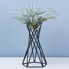 Containers Stands Flower-Racks Air-Plant-Holders Iron-Art Metal Modern-Style Tabletop