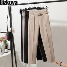 Winter woollen Pants Women White Harem Pants