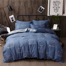 100% Cotton Duvet Cover Cute Whale Bed Cover for Kids Adults Single Double Bed Bedroom Use XF650-35 (No Pillowcase)