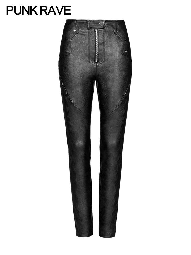 Новинка 2018, осенний стиль, женская одежда, дугообразный разрез, эластичные леггинсы, форма карандаша, девять точек, женские штаны черного цв... - 5