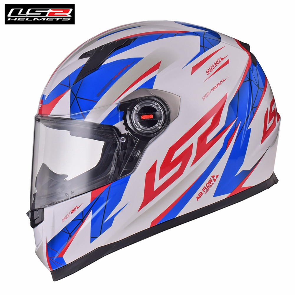 LS2 DRAZE Blue/White Full Face Moto Racing Motorcycle Helmet Motorbike Bike Helmet Crash Motor Helm Casque Moto Kask FF358