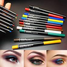 12 Delineador de color impermeable, de secado rápido Delineador colorido ojo-de couleur suave de color Delineador de ojos maquillaje venta al por mayor 12 unids/set