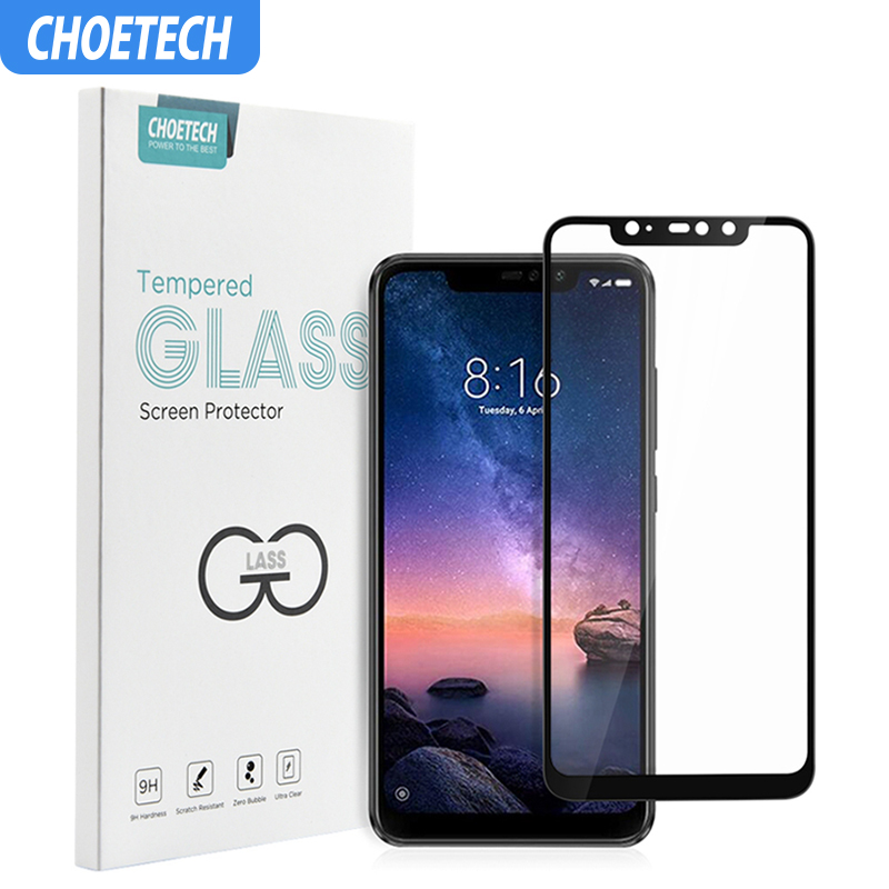 For Xiaomi Redmi Note 6 Pro Glass Protection Choetech 9H Full Glue Tempered Glass For Xiao Mi Red Mi 6 Pro Film Screen Protector