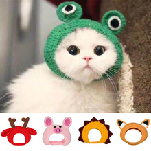Pet-Hats Party-Accessories Cat Dog-Cap Festival Hand-Knitted Warm AUG889 Cartoon-Shaped
