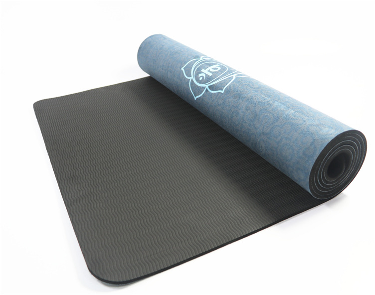 Ultra Thin Natural TPE Slip-resistant Yoga Mats Folding Fitness Mat High Temperature Suede Travel Printing Blanket 5