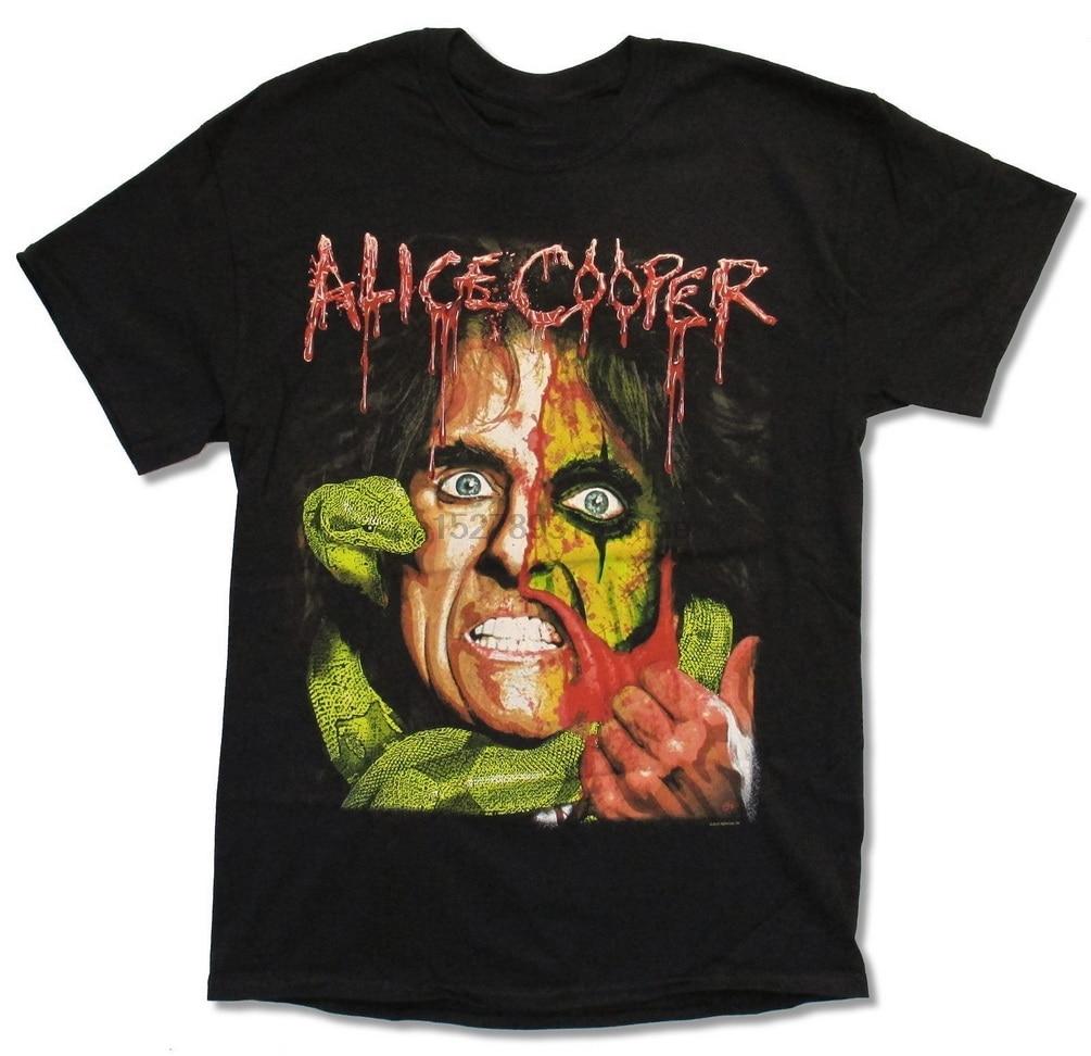Alice Cooper Snake Skin Madhouse Poster Mens Black T Shirt New Official Merch