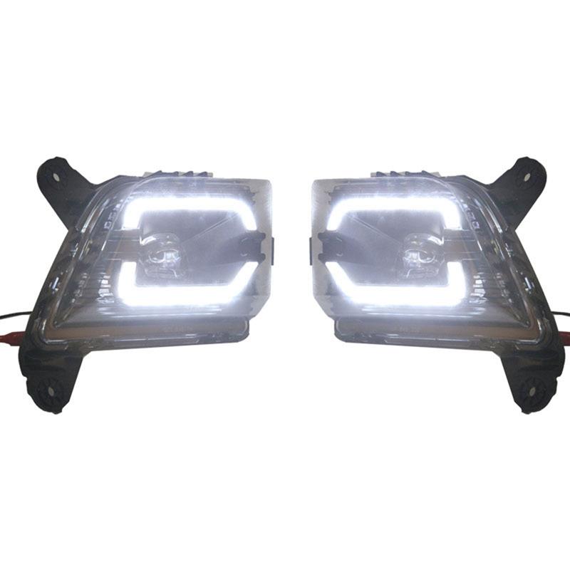 Car LED Bumper Driving Lamp DRL Daytime Running Light Fog Light for Chevrolet Silverado 2019 2020