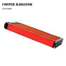 120/240/360 мм водяного охлаждения все медный радиатор для 12 см вентилятор компьютера теплоотводящий Кулер Мастер-30 мм толщина серебро/черный, красный V3