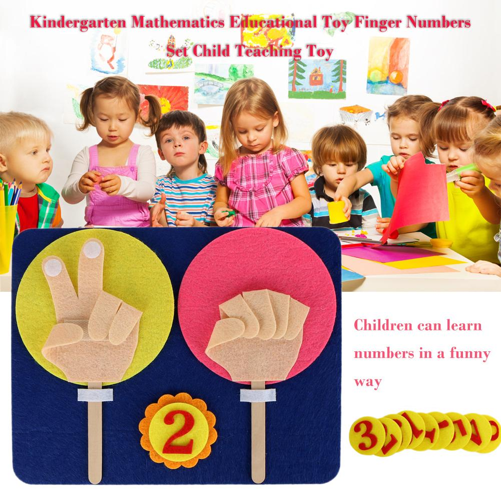 Kindergarten Mathematics Educational Toy Finger Counting 1-10 Learning Aids Finger Numbers Set Children Maths Teaching Tool