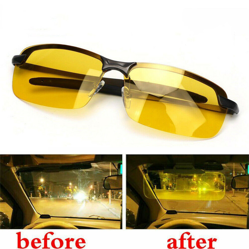 HD Night Vision Driving Glasses Polarized Driving Sunglasses Men Women Anti-glare Night Vision UV Driver Goggles Gafas