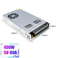 DC 5V 80A 400W Switching Power Supply AC to DC LED Strip Power Source Adapter Transformer LED Power Supply Voltage Regulator