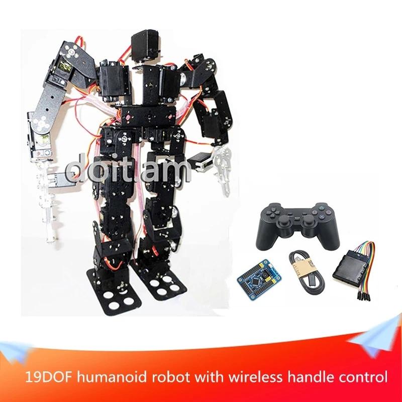 Shiwaki 19-DOF Biped Humanoid Robot Kit With SR319 Digital Servos And Controller