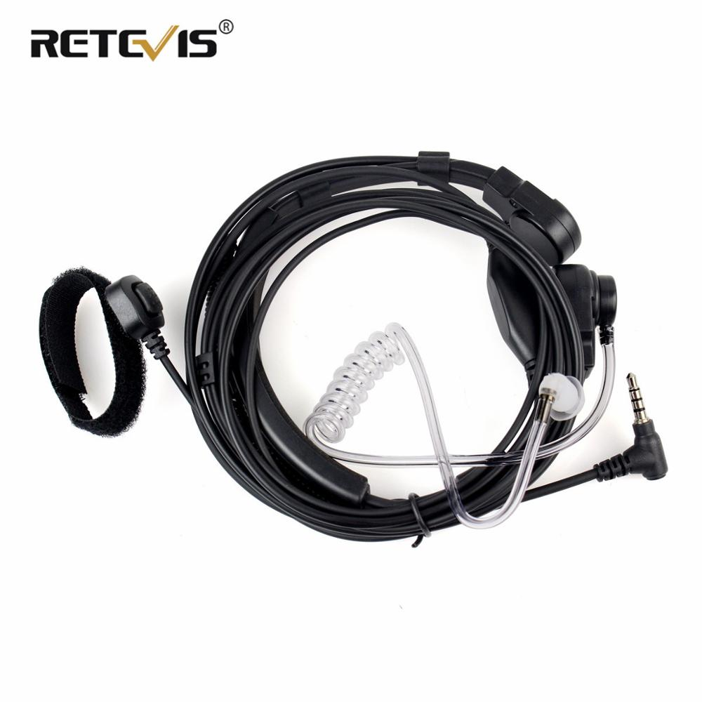 Finger PTT Throat MIC Covert Acoustic Tube Earpiece Headset For YAESU VERTEX VX-2R 3R FT-50R FT-60R 3.5mm 1 Pin Radios C2079A