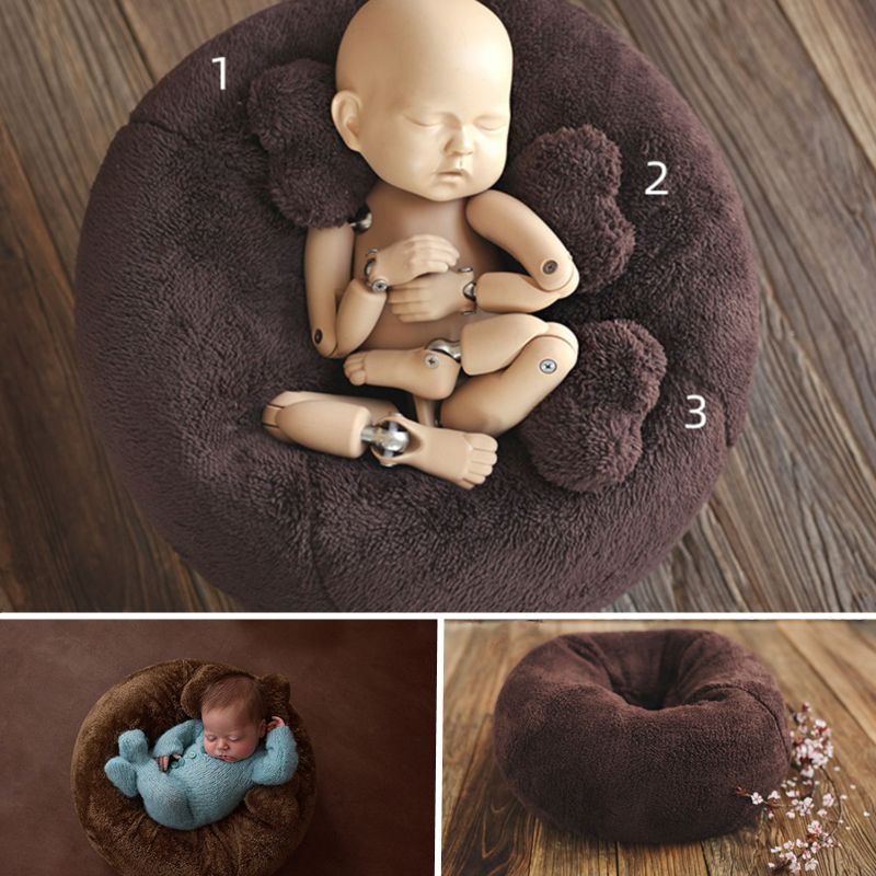 Baby Photography Props Posing Pillow Beans Bag Sofa Flokati Photo Shoot Accessories Photo Studio Shooting Station Beanbag Nest
