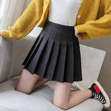 Women Skirt 2021 High Waist Preppy Style Student Pleated Skirts Female Cute Sweet Girls Dance Mini Skirt