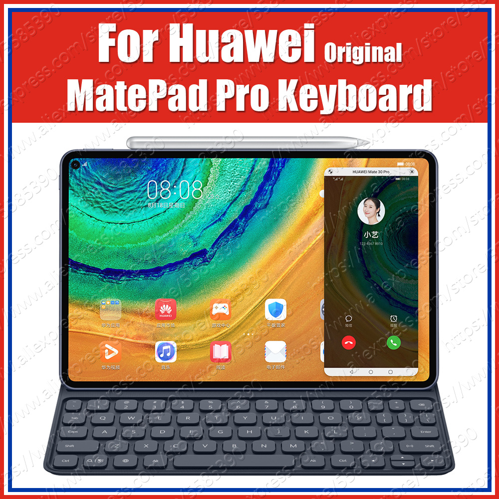 MRX-W09/AL09 260g PU HUAWEI MatePad Pro Case Original Smart Magnetic Keyboard Leather Stand Flip Cover With Russian Sticker