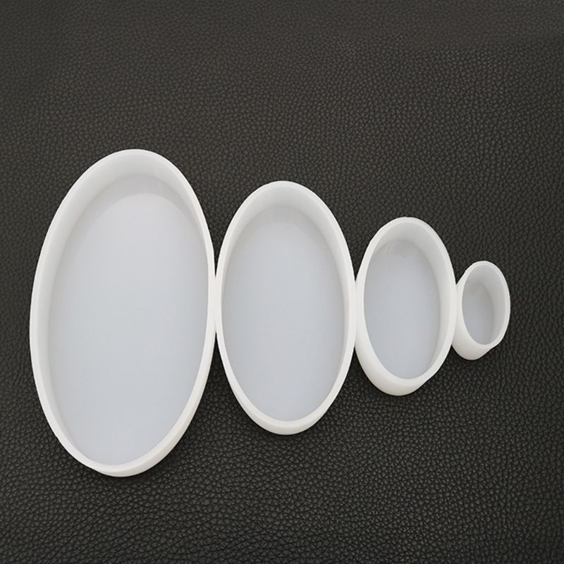 Handmade Crafts Jewelry High Mirror Silicone Mould DIY Crystal Epoxy Mold Oval Resin Molds