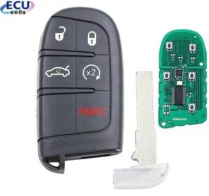 Image 1 - 4 + 1 כפתור חכם מרחוק מפתח Fob 433MHz עבור פיאט 500 500L 500X עבור ג יפ מצפן Renegade M3N 40821302 id46