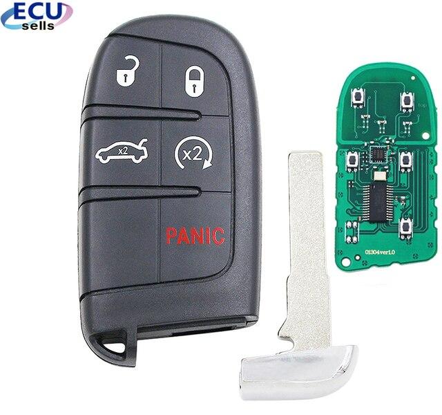 4 + 1 כפתור חכם מרחוק מפתח Fob 433MHz עבור פיאט 500 500L 500X עבור ג יפ מצפן Renegade M3N 40821302 id46