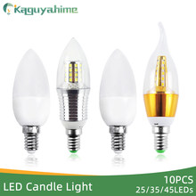 Kaguyahime 10Pcs High Power Aluminum LED Bulb E14 Golden Silver 3w 7w 9w 12w LED Lamp 220v Energy Saving Candle Bulb Light