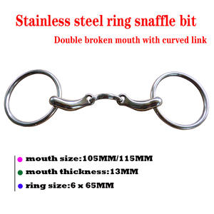 Snaffle-Bit Ring with Curved-Link. BT0510 Stainless-Steel