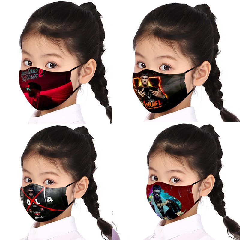 Singer Anuel AA Face Mask Reusable Washable Mouth Masks Anti-dust Flu PM2.5 Mask Bacteria Proof Flu Protective Adult Kid Mask