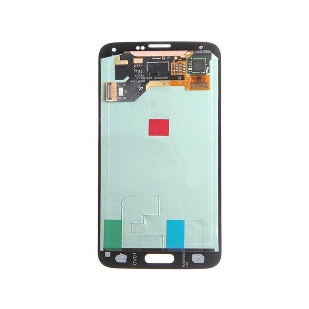 LCD Display T Aduh Layar Digitizer Suku Cadang Digitizer Panel Pengganti S Pare (Disambiguasi) Bagian untuk Samsung Galaxy S5 G900A G900T G900V