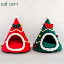 Рождественская елка для домашнего домика собак и кошек зимняя