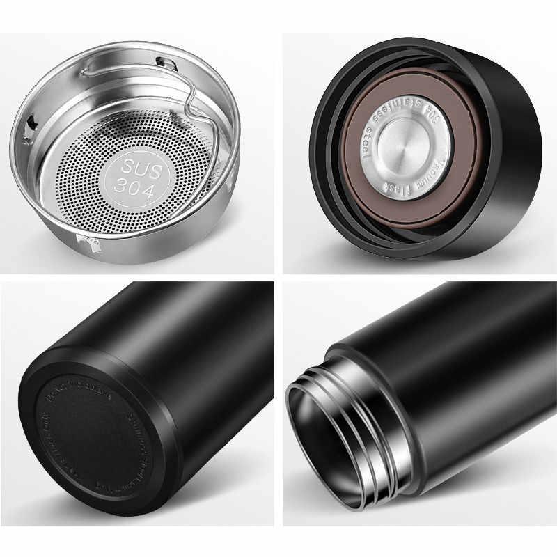 Termo botella de visualización de temperatura inteligente de acero inoxidable frascos de vacío café taza de viaje vaso de vacío botella de agua a prueba de fugas